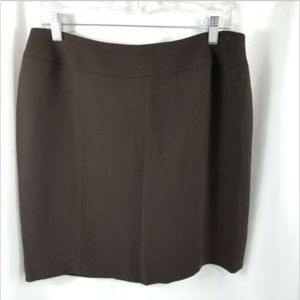 Casual Corner Annex Petite Fully Lined Brown 12P
